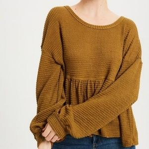 Pumpkin Spice Knit Top